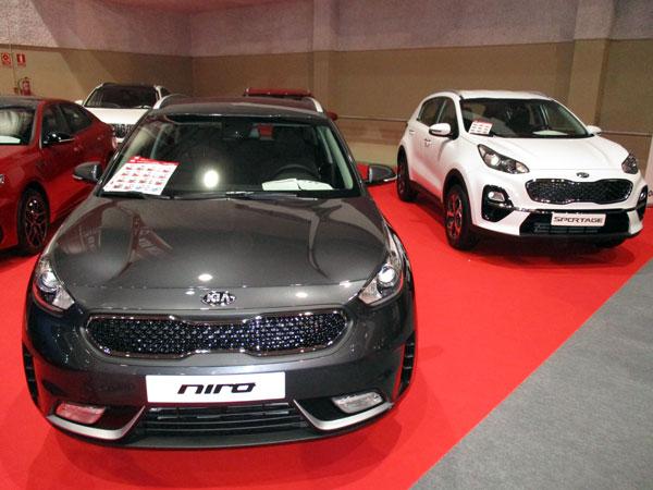 Nuevos KIA Niro y KIA Sportage en el Salón del Automóvil de Lugo 2019.