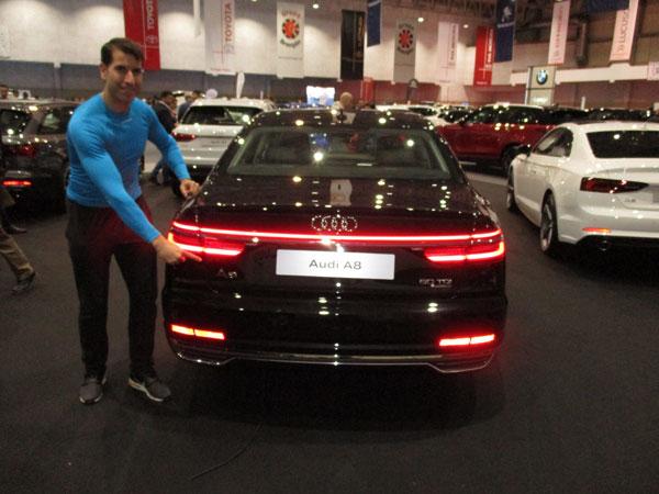 Audi A8 en el Salón del Automóvil de Lugo 2019.