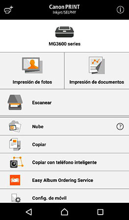 Canon PRINT Inkjet/SELPHY para iOS y Android