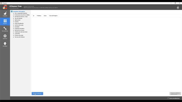 Limpiar el Registro con CCleaner