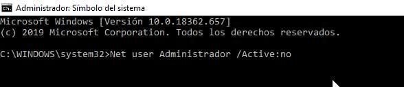 Cómo volver a ocultar la cuenta Administrador en Windows 10
