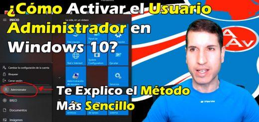 Cómo habilitar la cuenta oculta de usuario administrador en Windows 10