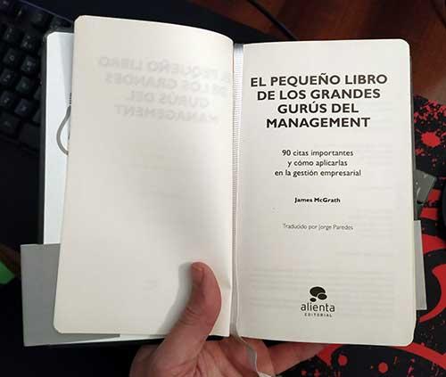 Análisis del pequeño libro de los grandes gurús del management.