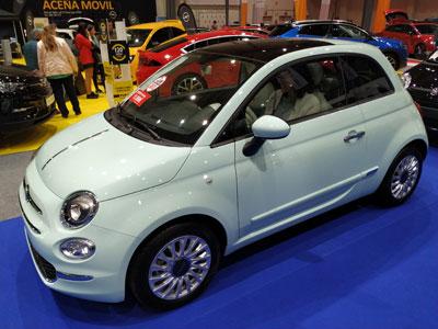 Fiat 500 en el Salón del Automóvil de Lugo 2019.