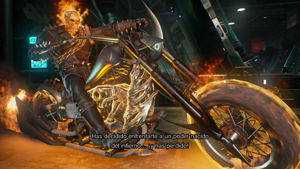 El Ghost Rider haciendo acto de presencia en Marvel vs. Capcom: Infinite