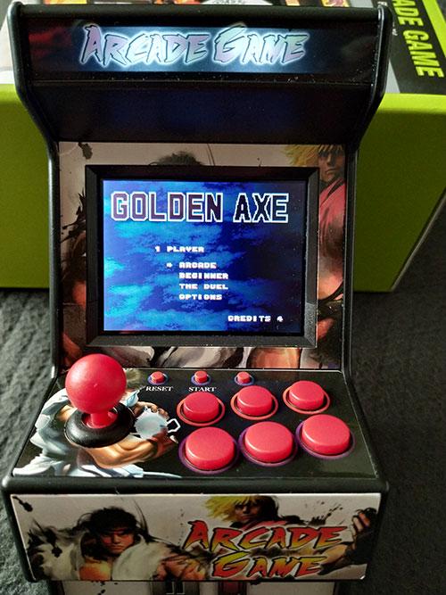 Golden Axe en la New Street Fighter Home Arcade.