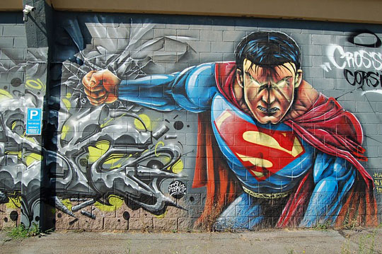 Grafiti de Superman