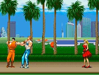 Guy peleando con Cody