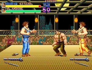 Haggar en el ring contra Andore