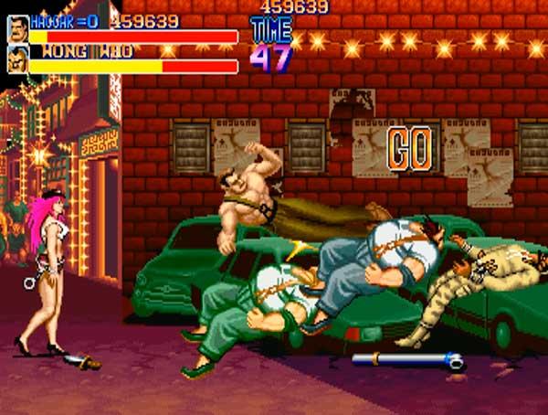 Mike Haggar en una escena de Final Fight