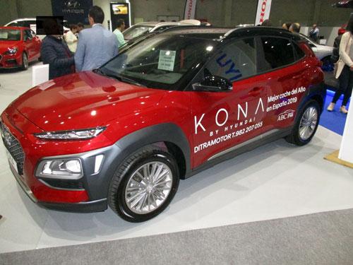 Hyundai KONA en el Salón del Automóvil de Lugo 2019.