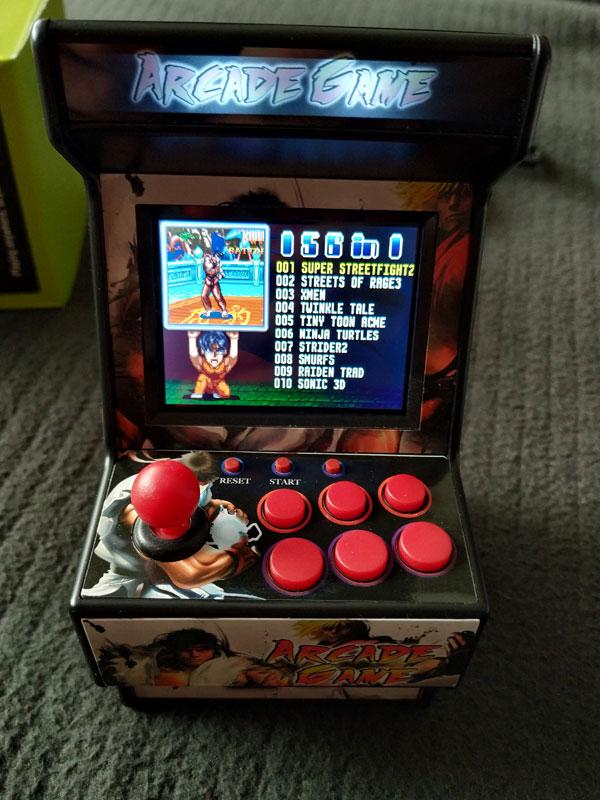 New Street Fighter Home Arcade: Menú de juegos