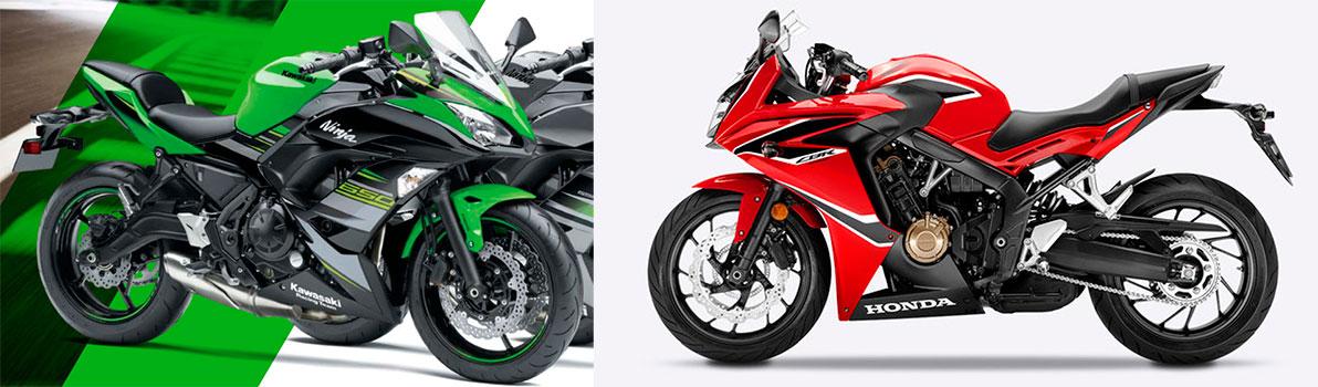 Kawasaki Ninja 650 VS Honda CBR 650F