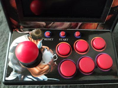 Mandos de la New Street Fighter Home Arcade.