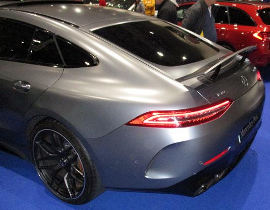 Parte trasera del Mercedes-AMG GT Coupé de 4 puertas