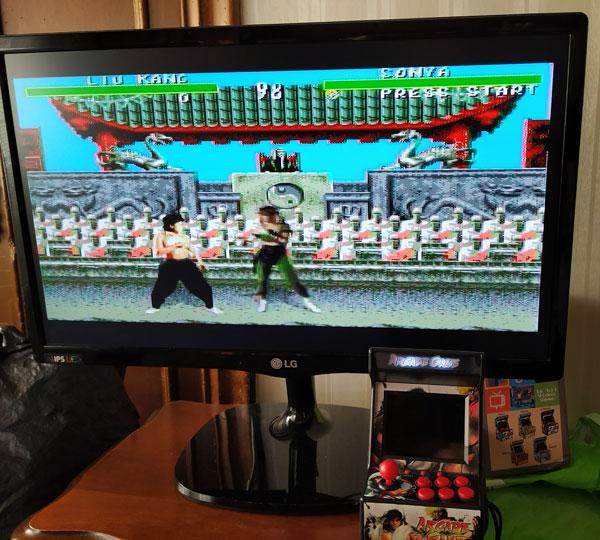 Mortal Kombat en New Street Fighter Home Arcade