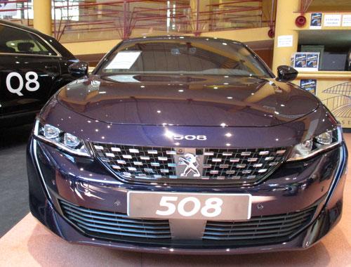Frontal deportivo del Peugeot 508