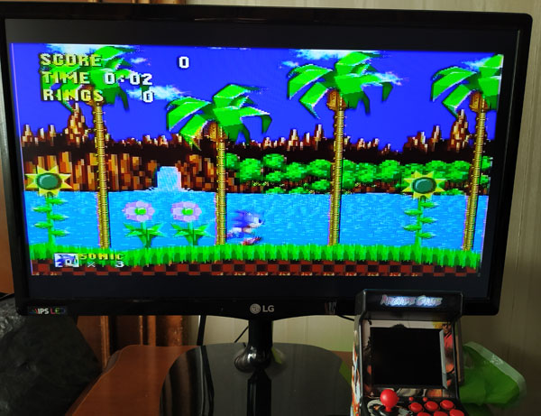 Sonic The Hedgehog en New Street Fighter Home Arcade