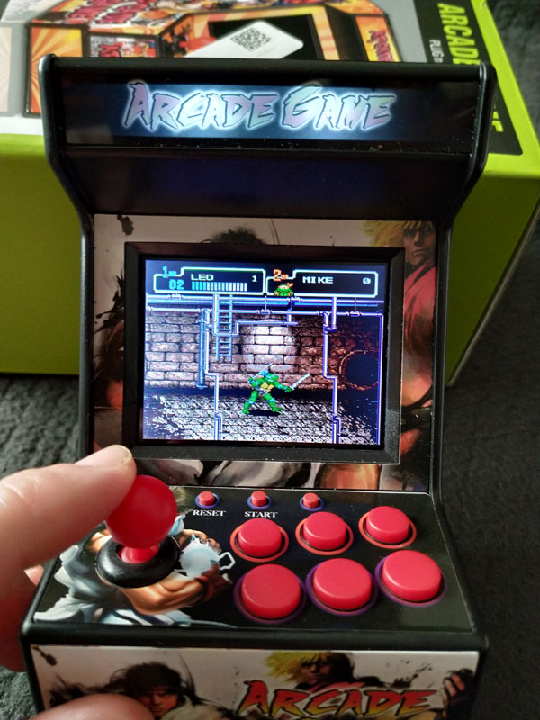 Tortugas Ninja en New Street Fighter Home Arcade