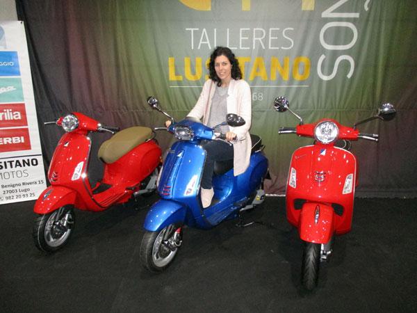 Vespas de Piaggio en el Salón del Automóvil de Lugo 2019