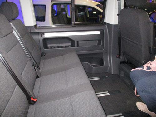Parte interior trasera de la Volkswagen California